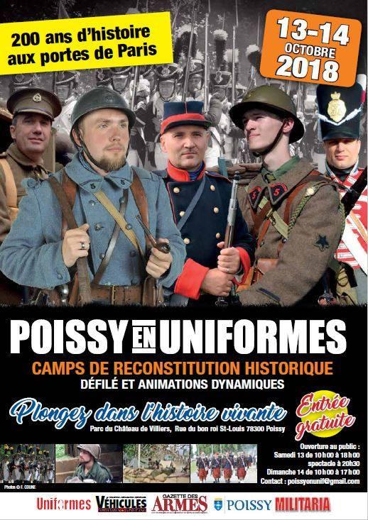 POISSY(78) Poissy en uniformes 13&14 Octobre 2018