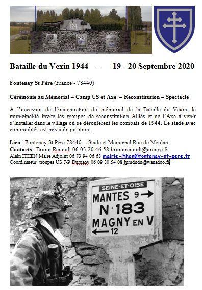 FONTENAY SAINT PERE (78) 19&20 SEPTEMBRE 2020