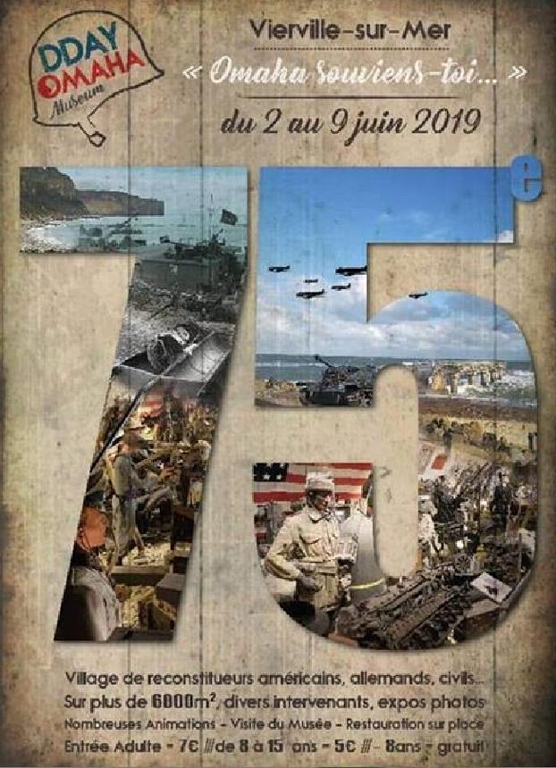 MUSEE D-DAY OMAHA VIERVILLE SUR MER(14) DU 5 AU 10 JUIN 2019