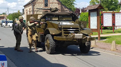 0018 US ARMY half track 79TH MEMORY GROUP