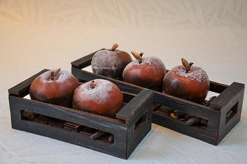 Cageots de pommes garnis d'assortiment