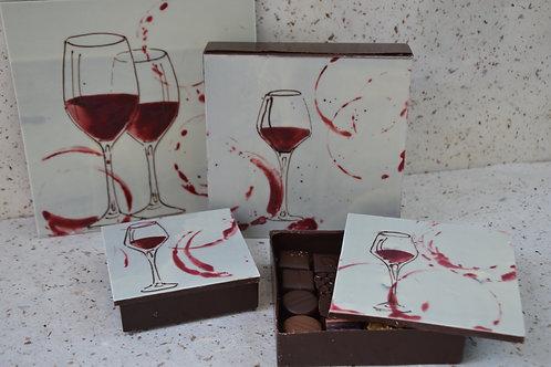 Boite verre de vin