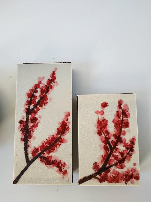 Boites fleurs de cerisier - garnies d'assortiment