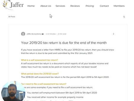 Your 2019/20 tax return is due for the end of the month