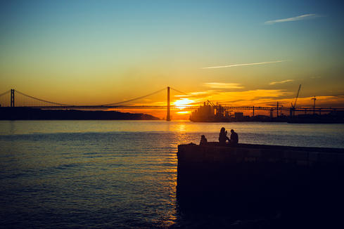 Tagus river sunset