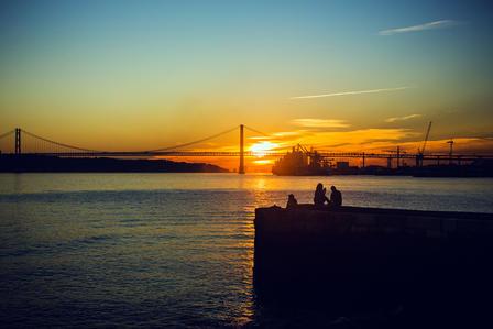 Tagus river sunset