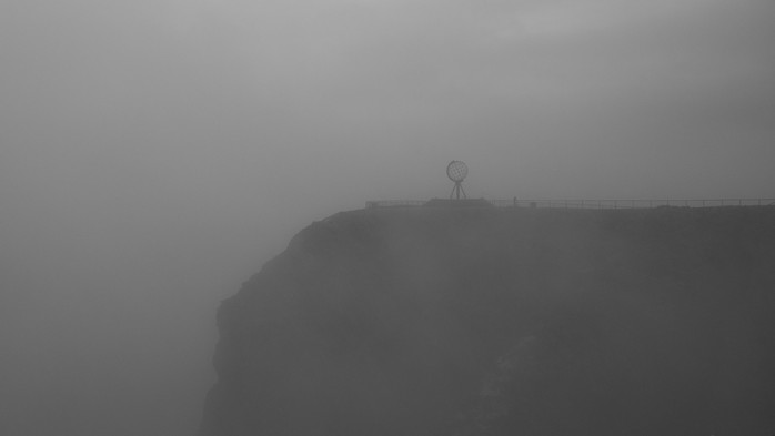 Nordkap im Nebel