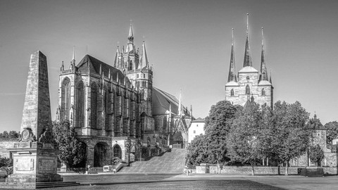 Erfurter Dom mit Severi-Kirche