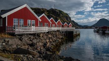 Rorbu-Ferienhäuser auf den Lofoten