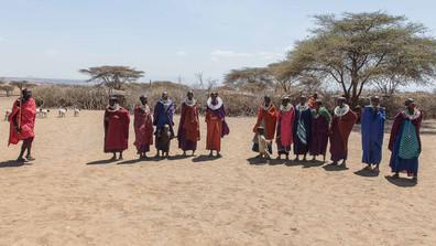 Im Massai-dorf