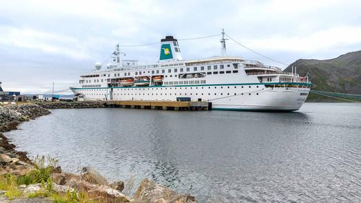 Deutschland im Hafen von Honningsvag