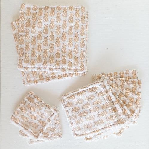 Lot carré lavable bambou + coton