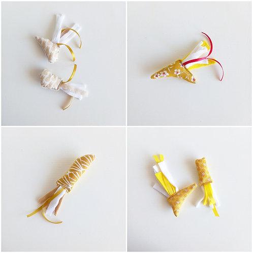 Eco-jouets jaune/or