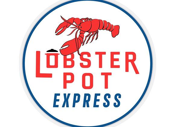 Lobster Pot Express Logo Sticker