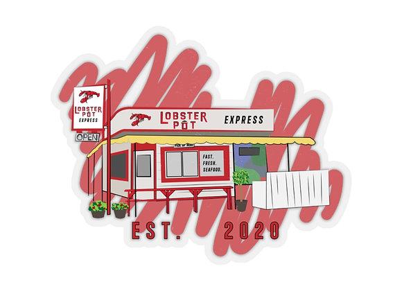 Lobster Pot Express Storefront Sticker