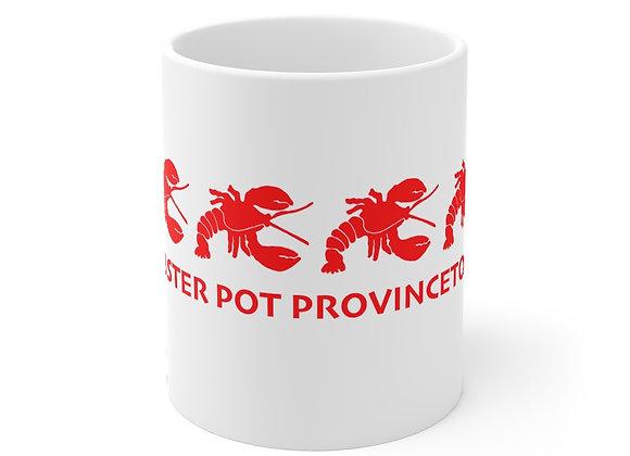 """""""Vintage"""" Lobster Pot White Mug"""
