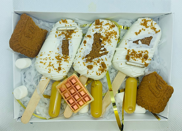 Biscoff and Salted Caramel Vodka Cakesicles