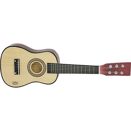Guitare en bois naturel