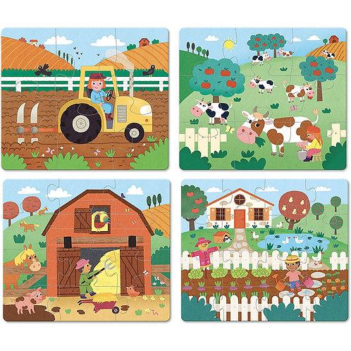 4 puzzles évolutifs la ferme