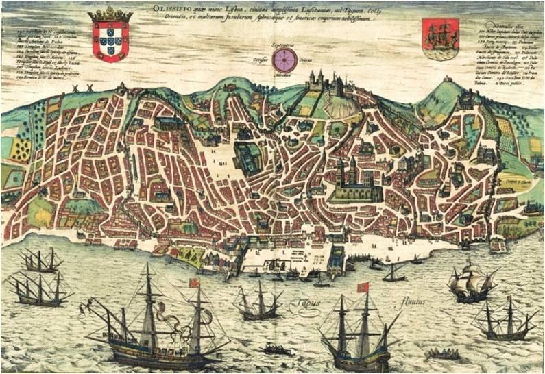 mapa de lisboa antiga o mito das 7 colinas de Lisboa | sobre Lisboa | sobreLx mapa de lisboa antiga