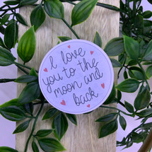 I Love You to the Moon and Back - CalligraphBea
