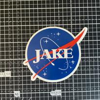 Custom Named NASA Inspired Vinyl Stickers