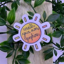 Create your own sunshine sticker
