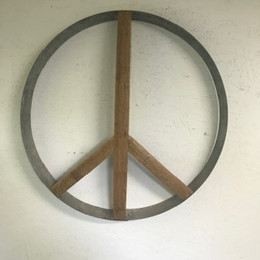 Stave and Barrel Ring Peace Sign