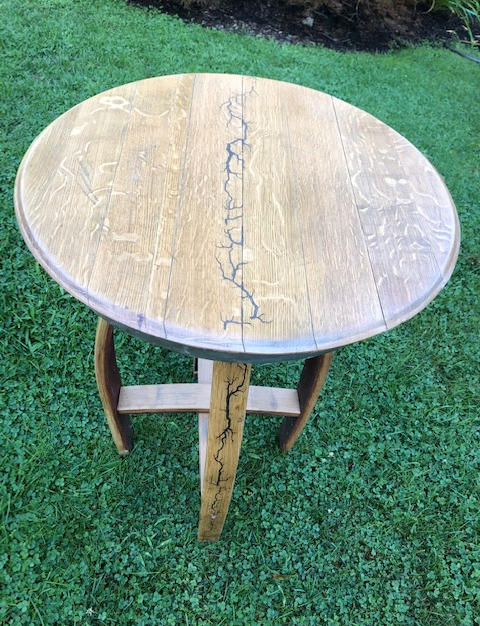 Barrel Top End Table