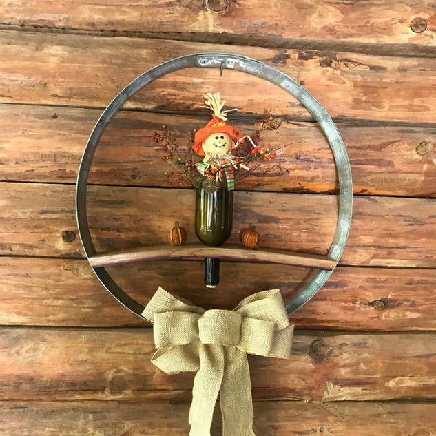 Barrel Ring and Stave Wall Hanging