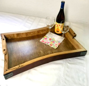Barrel Stave Serving Tray
