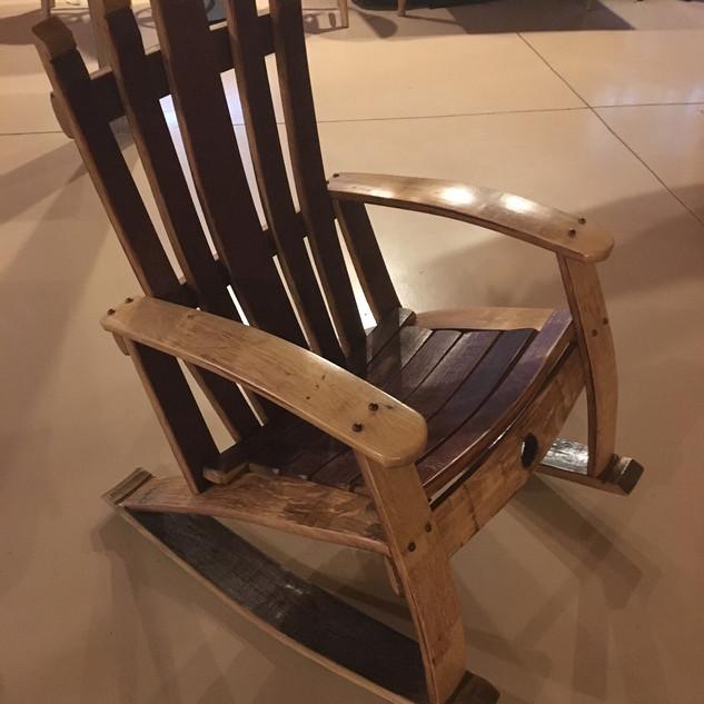 Barrel Stave Rocking Chair
