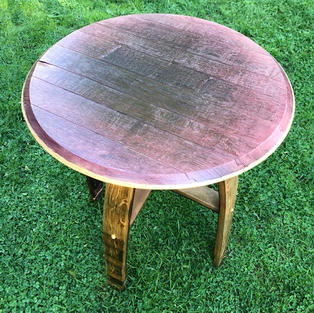 Wine Stained End Table