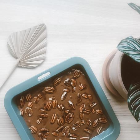 Maple Pecan Vegan Brownies
