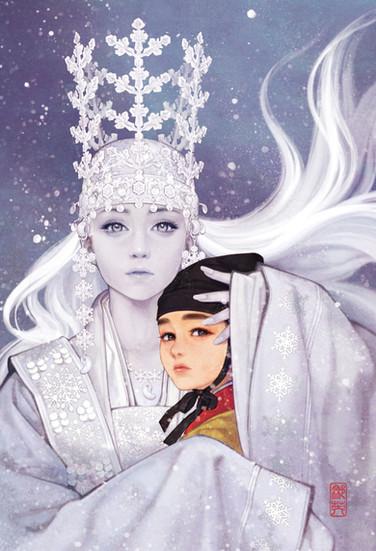 눈의 여왕_카이를 데려가는 눈의 여왕 / The Snow Queen_Snow Queen taking Kai