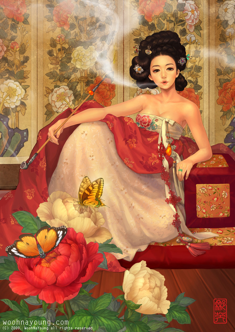 목단화 / Woman with Peonies