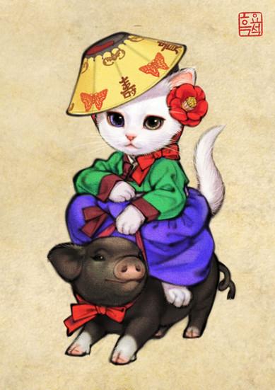 기녀고양이 / Ginyeo(Courtesan) Cat version