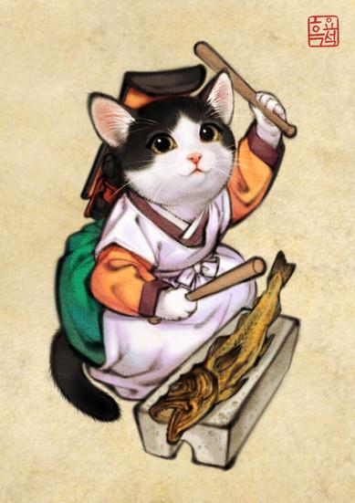 나인고양이 / Court Lady Cat version