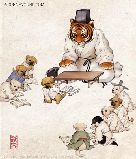 서당도_동물버전 / Seodang(Village School) Animal version