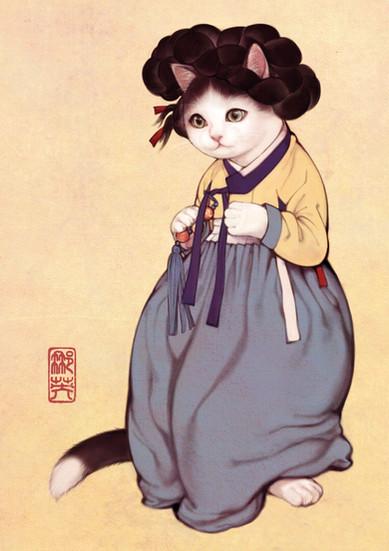 미냥도 / Portrait of Beauty Cat version