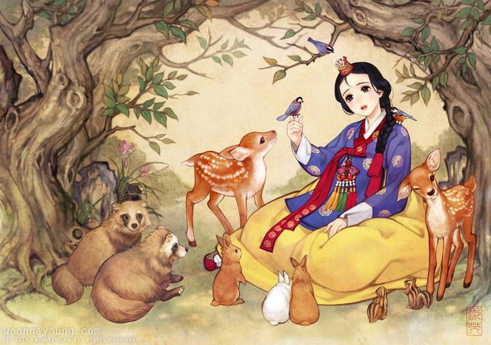백설공주와 숲속의 작은 동물들 / Snow White with Animal Friends