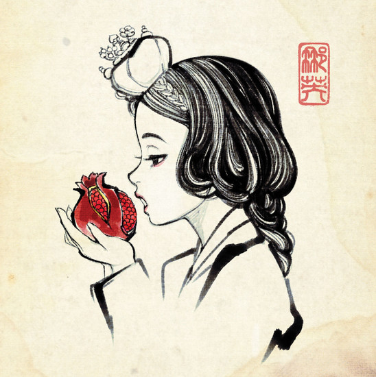 Snow White_Having Pomegranate