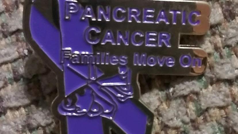 Pancreatic Cancer Purple Ribbon Pin