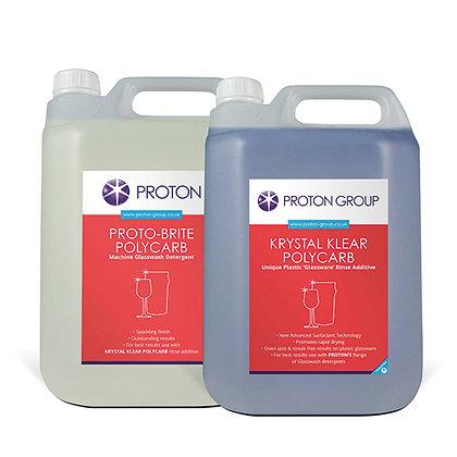 Polycarb Glasswash Combi Pack 2x5L