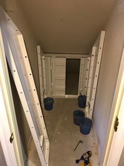 Stairway tornado shelter
