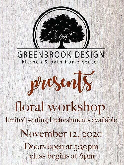 Flower Class at Greenbrook Design