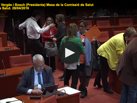 Proposta amb compareixença al Parlament de Catalunya