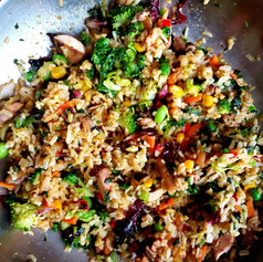 Vegetarian Brown fried rice