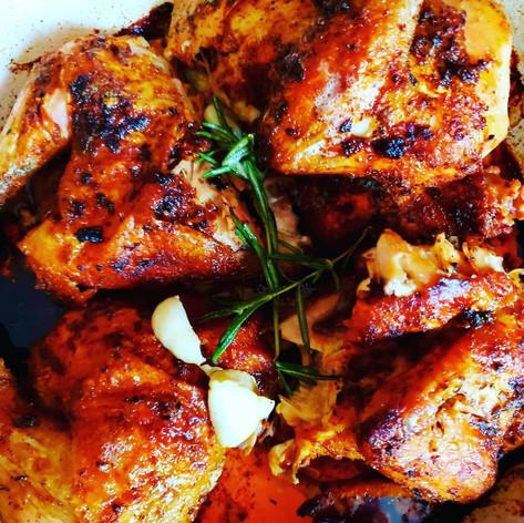 Rosmary and Garlic roasted chicken