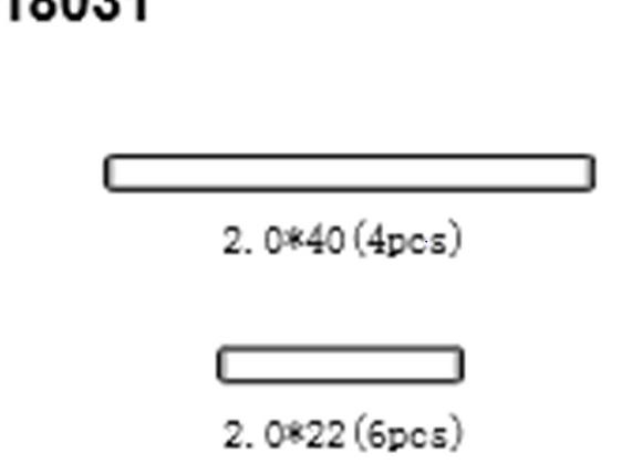 BLAZE18 Pins 2*40*4p 2*22*6p